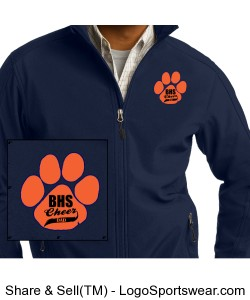 Cheer Dads Core Soft Shell Jacket Design Zoom