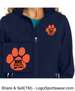Cheer Moms Core Soft Shell Jacket Design Zoom